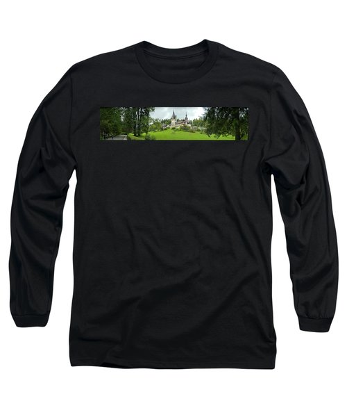 Peles Castle In The Carpathian Long Sleeve T-Shirt by Panoramic Images