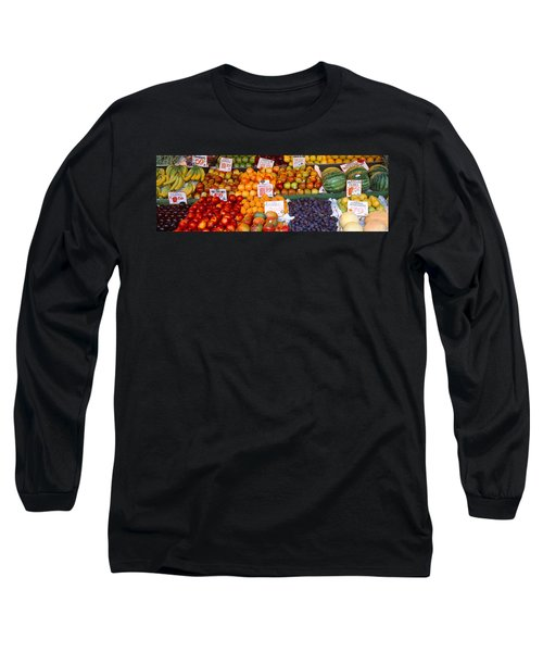 Pike Place Market Seattle Wa Usa Long Sleeve T-Shirt by Panoramic Images