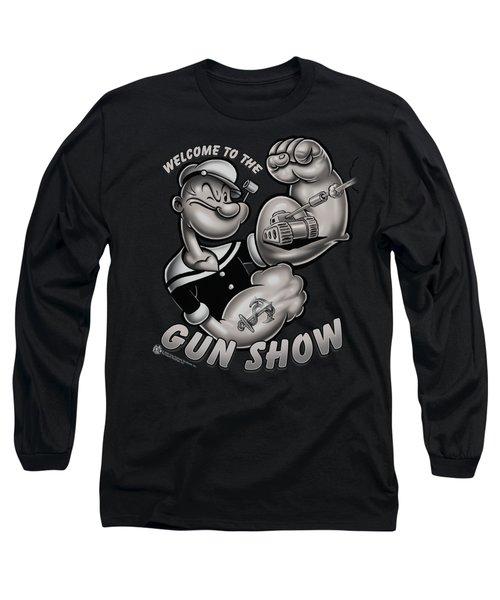 Popeye - Gun Show Long Sleeve T-Shirt by Brand A