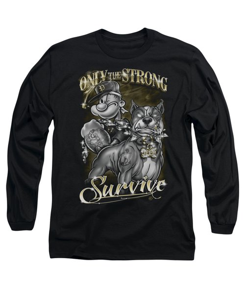 Popeye - Only The Strong Long Sleeve T-Shirt by Brand A