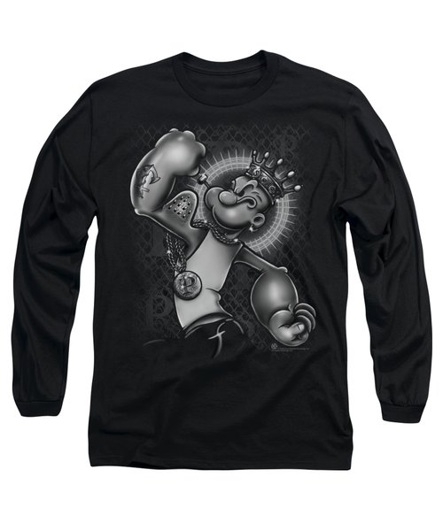 Popeye - Spinach King Long Sleeve T-Shirt by Brand A