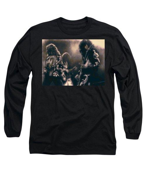 Raw Energy Of Led Zeppelin Long Sleeve T-Shirt by Daniel Hagerman