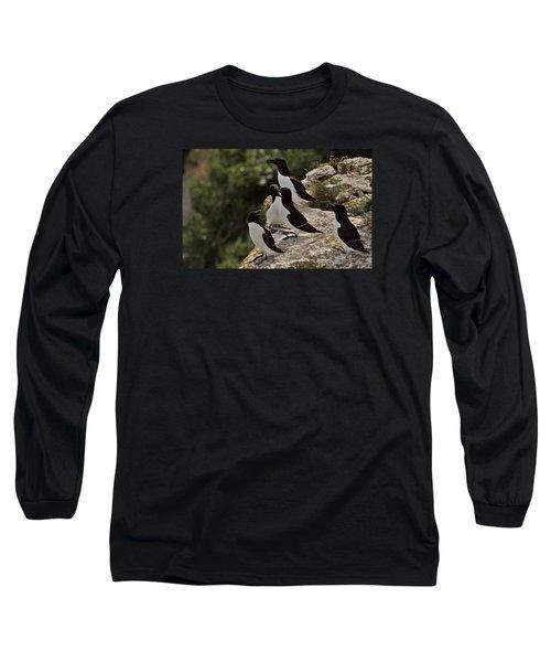 Razorbill Cliff Long Sleeve T-Shirt by Dreamland Media