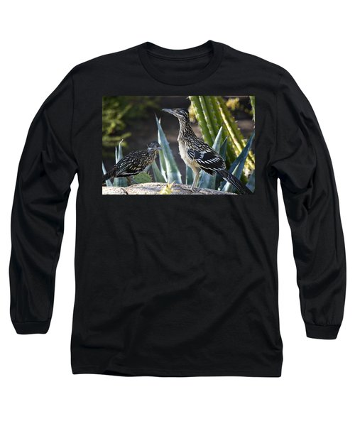 Roadrunners At Play  Long Sleeve T-Shirt by Saija  Lehtonen