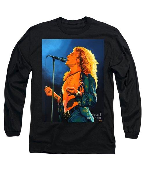 Robert Plant Long Sleeve T-Shirt by Paul Meijering