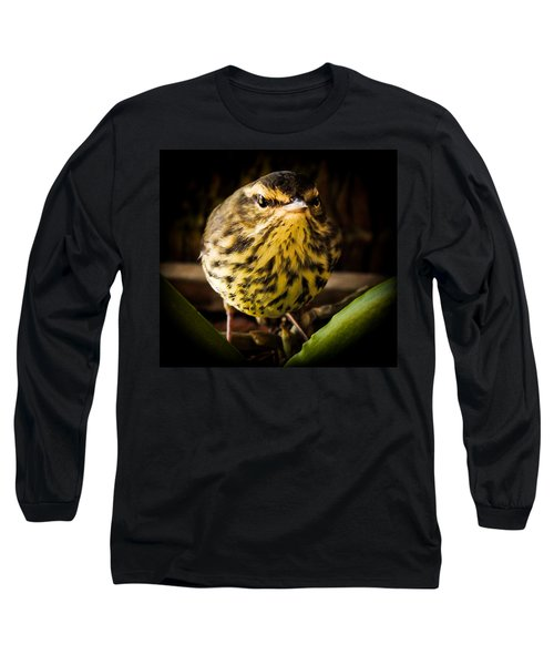Round Warbler Long Sleeve T-Shirt by Karen Wiles