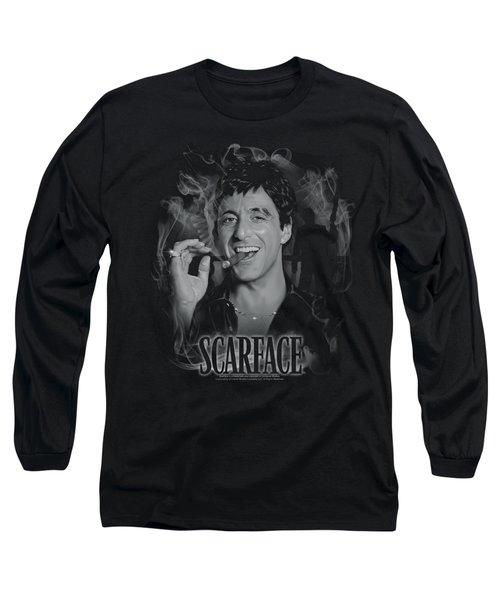Scarface - Smokey Scar Long Sleeve T-Shirt by Brand A