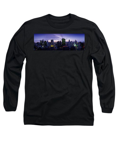 Skyscrapers, Chicago, Illinois, Usa Long Sleeve T-Shirt by Panoramic Images