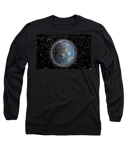 Long Sleeve T-Shirt featuring the photograph Space Junk by Science Source