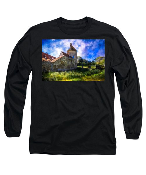 Spring Romance In The French Countryside Long Sleeve T-Shirt by Debra and Dave Vanderlaan
