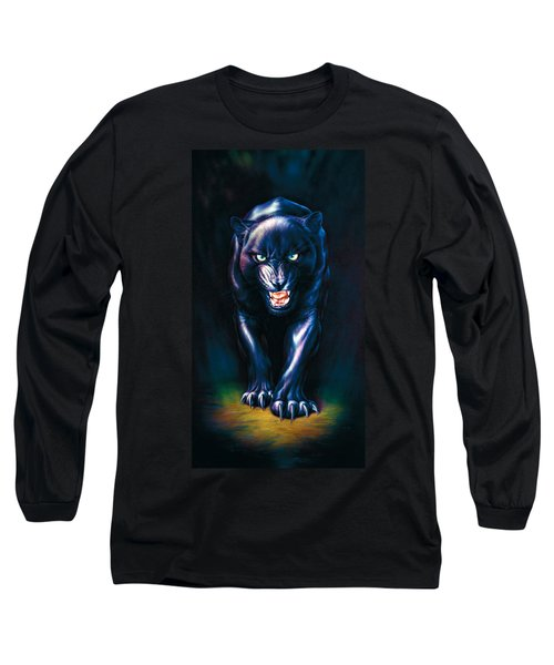 Stalking Panther Long Sleeve T-Shirt by Andrew Farley