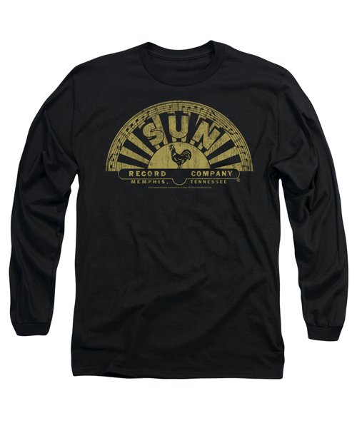 Sun - Tattered Logo Long Sleeve T-Shirt by Brand A