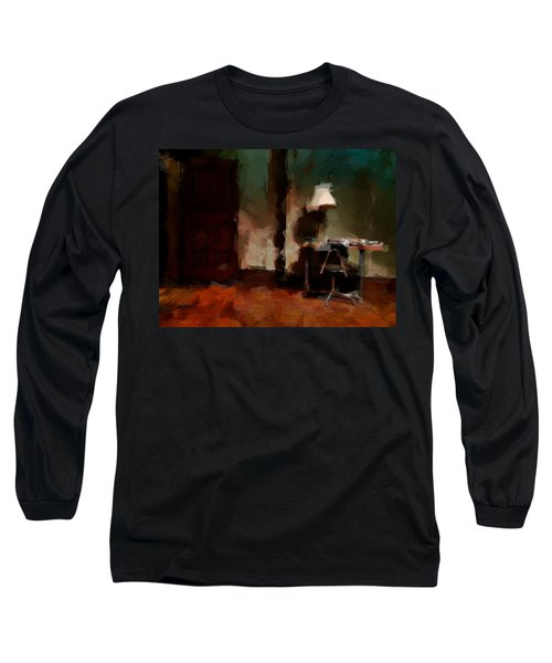 Table Lamp Chair Long Sleeve T-Shirt by H James Hoff