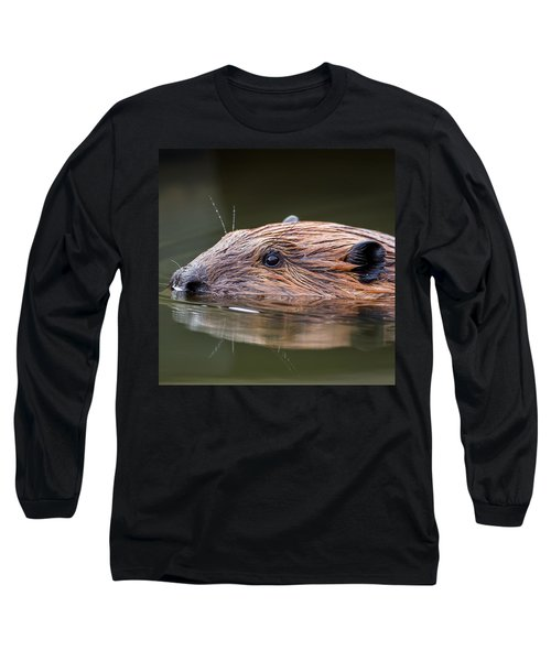 The Beaver Square Long Sleeve T-Shirt by Bill Wakeley