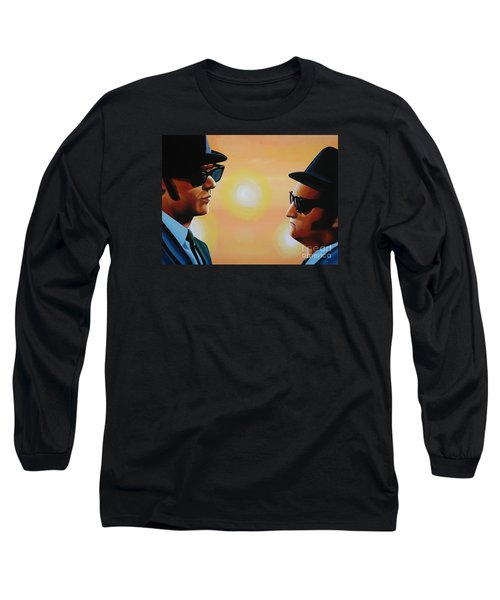The Blues Brothers Long Sleeve T-Shirt by Paul Meijering