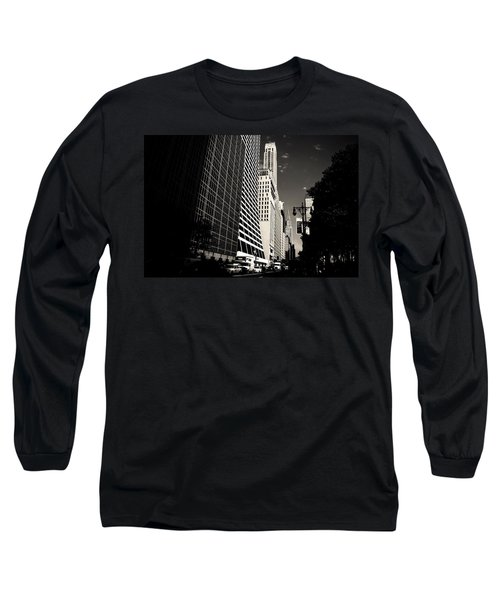 The Grace Building And The Chrysler Building - New York City Long Sleeve T-Shirt by Vivienne Gucwa