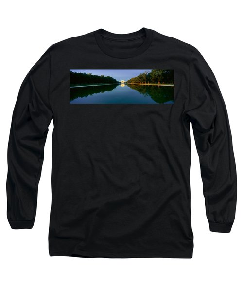 The Lincoln Memorial At Sunrise Long Sleeve T-Shirt by Panoramic Images