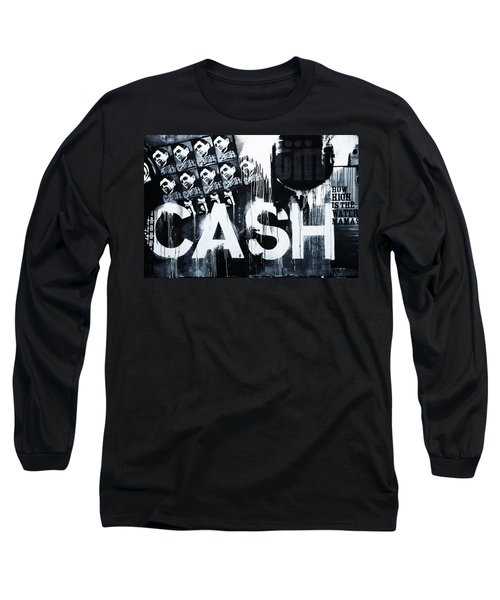The Man In Black Long Sleeve T-Shirt by Dan Sproul