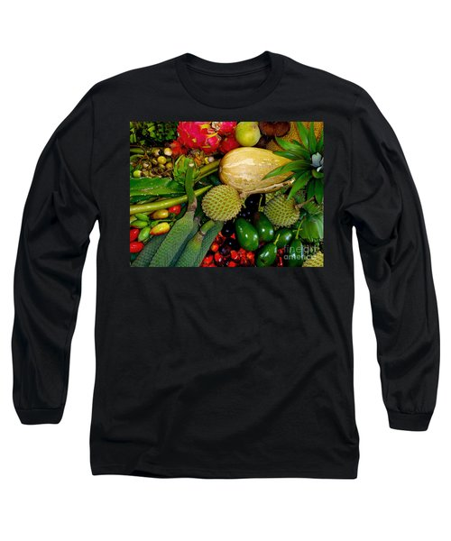 Tropical Fruits Long Sleeve T-Shirt by Carey Chen