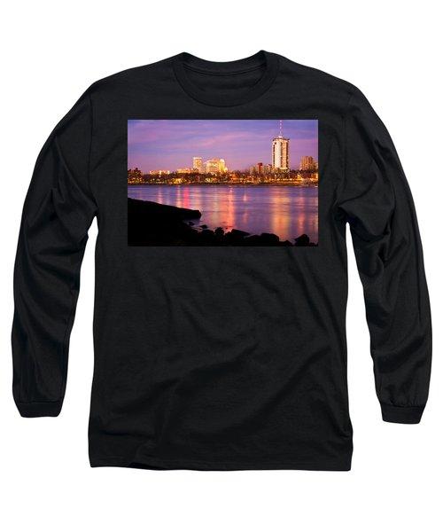 Tulsa Oklahoma - University Tower View Long Sleeve T-Shirt by Gregory Ballos
