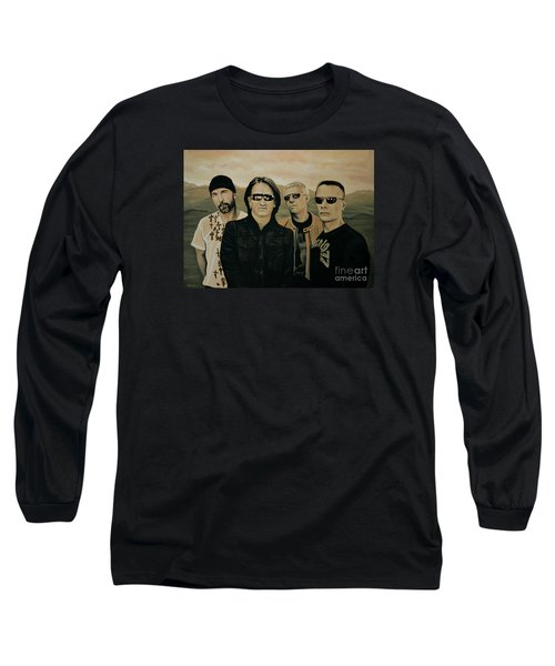 U2 Silver And Gold Long Sleeve T-Shirt by Paul Meijering