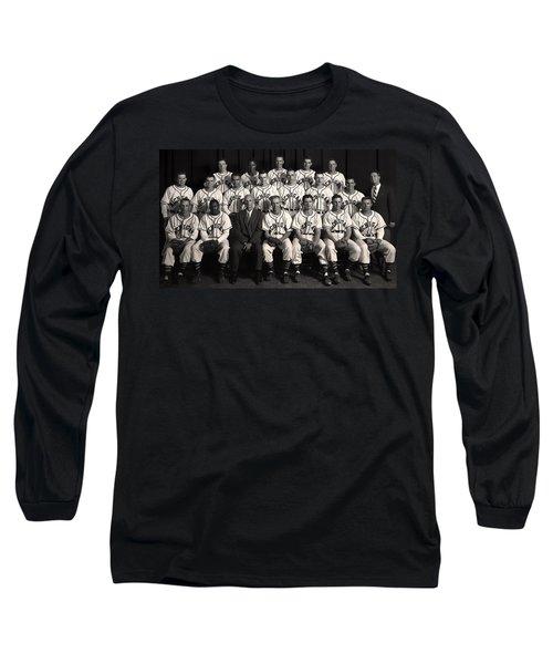 University Of Michigan - 1953 College Baseball National Champion Long Sleeve T-Shirt by Mountain Dreams