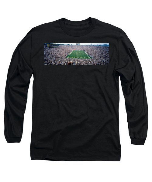 University Of Michigan Football Game Long Sleeve T-Shirt by Panoramic Images