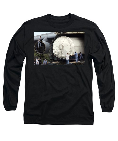 Long Sleeve T-Shirt featuring the photograph Unloading A Titan Ivb Rocket by Science Source
