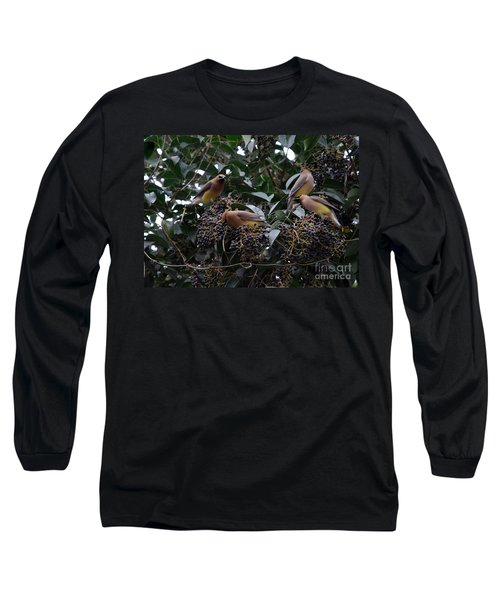 Wax Wings Supper  Long Sleeve T-Shirt by Skip Willits