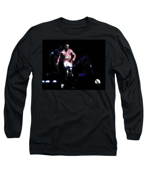 Wayne Rooney Working Magic Long Sleeve T-Shirt by Brian Reaves