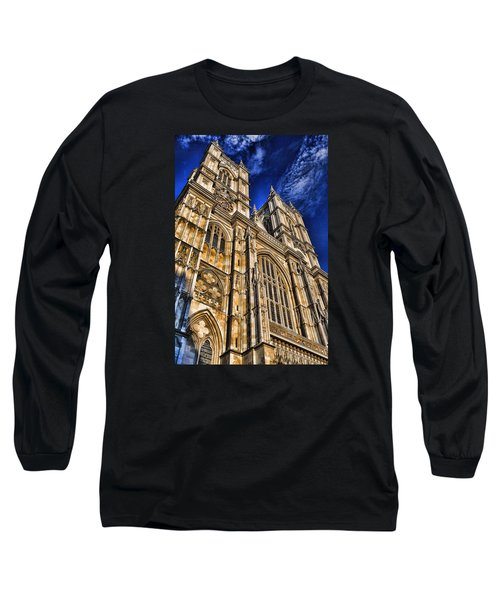 Westminster Abbey West Front Long Sleeve T-Shirt by Stephen Stookey