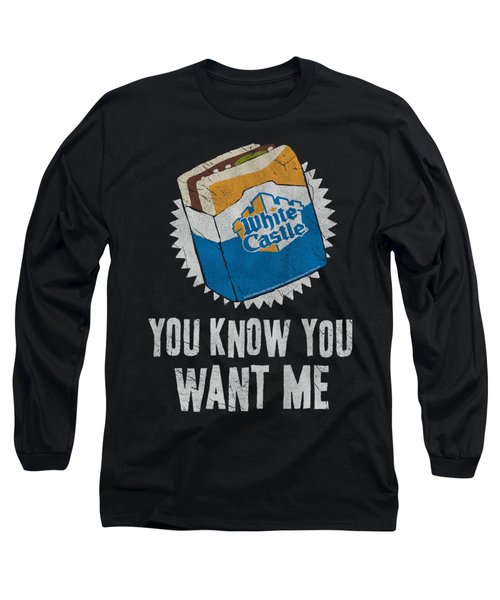 White Castle - Want Me Long Sleeve T-Shirt by Brand A