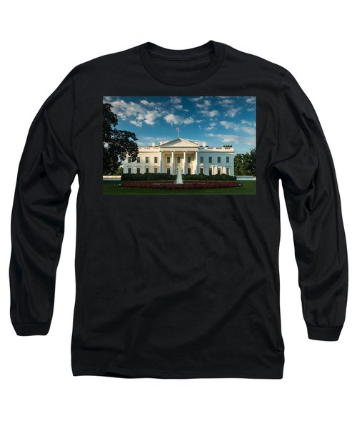 White House Sunrise Long Sleeve T-Shirt by Steve Gadomski
