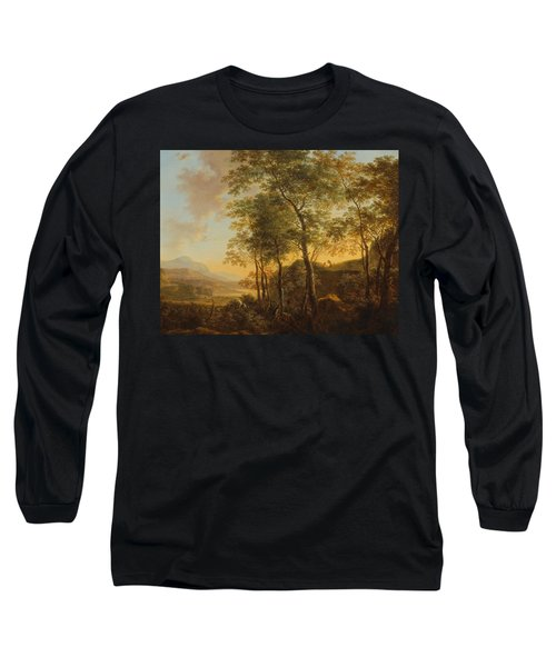 Wooded Hillside With A Vista Long Sleeve T-Shirt by Jan Both