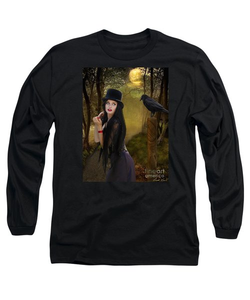 Words Of The Crow Long Sleeve T-Shirt by Linda Lees