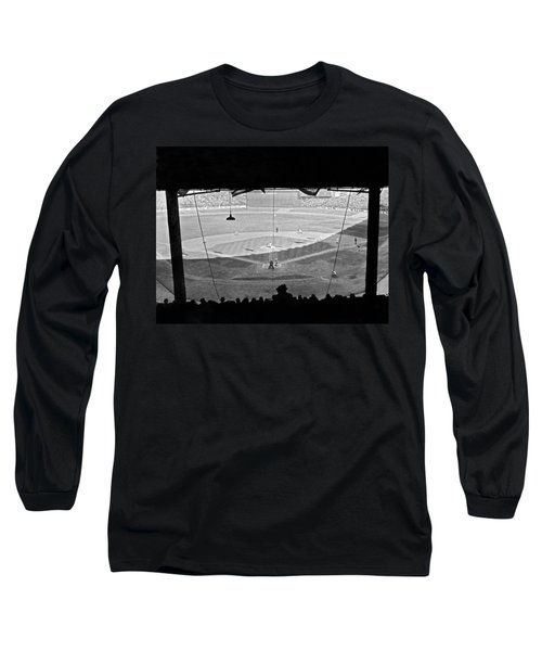 Yankee Stadium Grandstand View Long Sleeve T-Shirt by Underwood Archives
