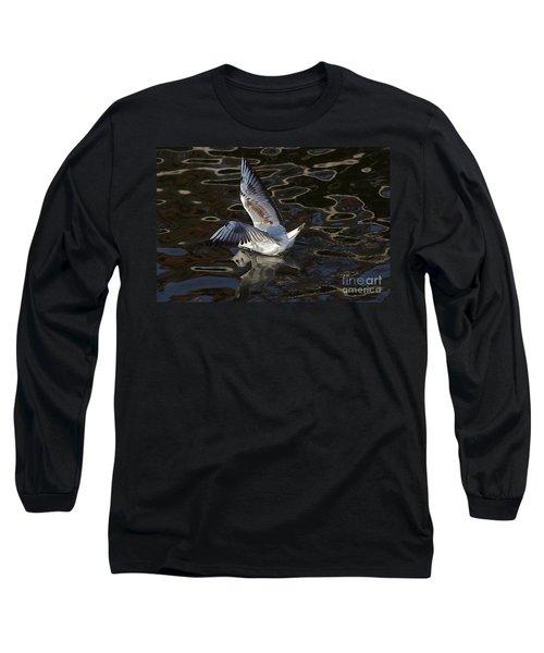 Head Under Water Long Sleeve T-Shirt by Michal Boubin