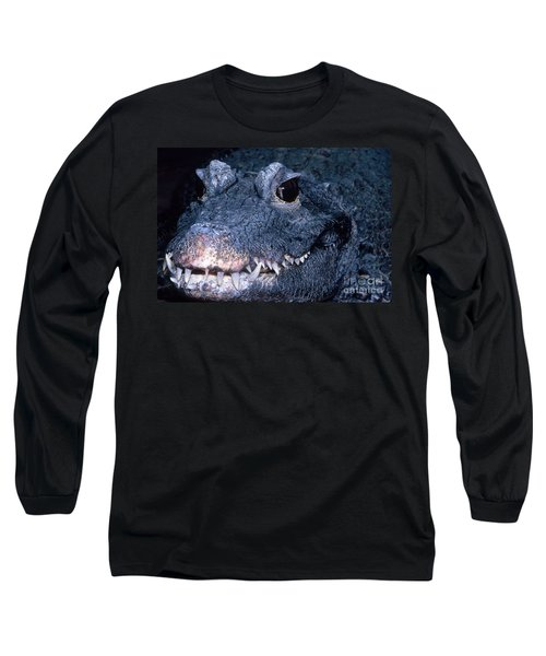 African Dwarf Crocodile Long Sleeve T-Shirt by Dante Fenolio