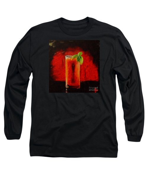 Bloody Mary Coctail Long Sleeve T-Shirt by Dragica  Micki Fortuna