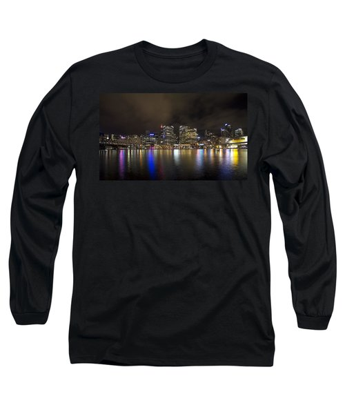 Darling Harbor Sydney Skyline Long Sleeve T-Shirt by Douglas Barnard