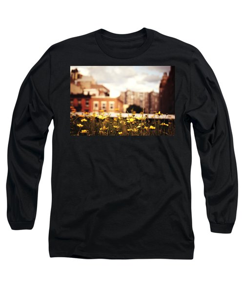Flowers - High Line Park - New York City Long Sleeve T-Shirt by Vivienne Gucwa