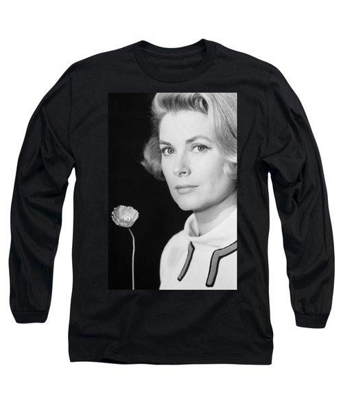 Grace Kelly (1928-1982) Long Sleeve T-Shirt by Granger