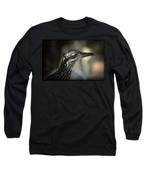 Portrait Of A Roadrunner  Long Sleeve T-Shirt by Saija  Lehtonen