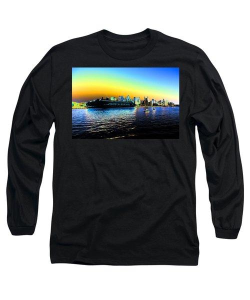 Sydney In Color Long Sleeve T-Shirt by Douglas Barnard