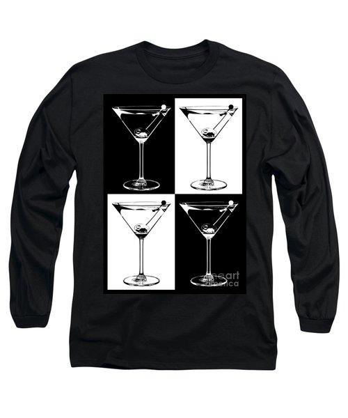 Classic Martini  Long Sleeve T-Shirt by Jon Neidert