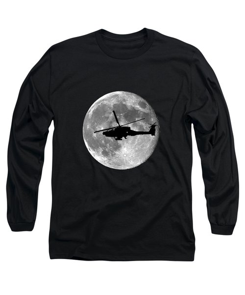 Apache Moon .png Long Sleeve T-Shirt by Al Powell Photography USA