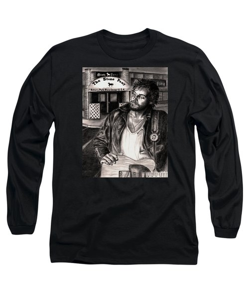 Bruce Springsteen Long Sleeve T-Shirt by Kathleen Kelly Thompson
