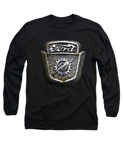 Ford Emblem Long Sleeve T-Shirt by Debra and Dave Vanderlaan