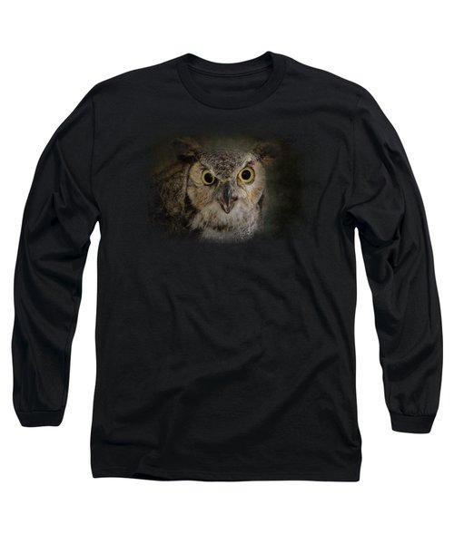 Great Horned Owl Long Sleeve T-Shirt by Jai Johnson