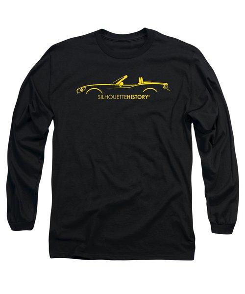 Italian Roadster Silhouettehistory Long Sleeve T-Shirt by Gabor Vida